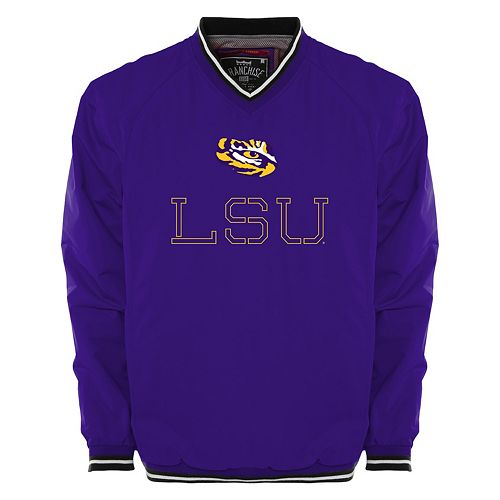 Men's Franchise Club LSU Tigers Trainer Windshell Pullover