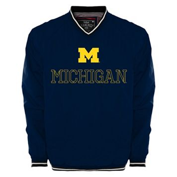 Men's Franchise Club Michigan Wolverines Trainer Windshell Pullover