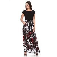 Women's Expo Floral Chiffon Evening Gown