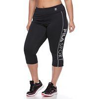 Plus Size FILA SPORT® Logo Workout Capri Leggings