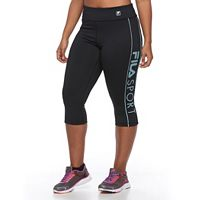 Plus Size FILA SPORT® Logo Workout Capri Leggings