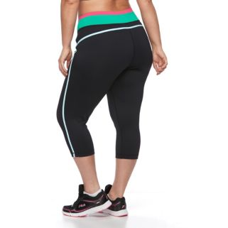 Plus Size FILA SPORT® Colorblock Yoga Capris