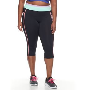 Plus Size FILA SPORT® Colorblock Yoga Capris