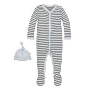 Baby Boy Burt's Bees Baby Organic Striped Sleep & Play