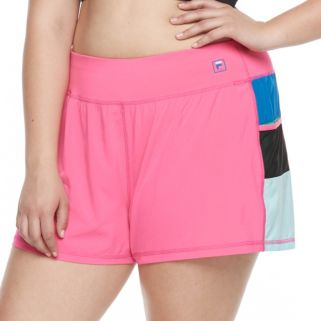 Plus Size FILA SPORT® Colorblock Running Shorts