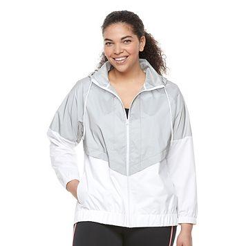 Plus Size FILA SPORT® Reflective Windbreaker Jacket