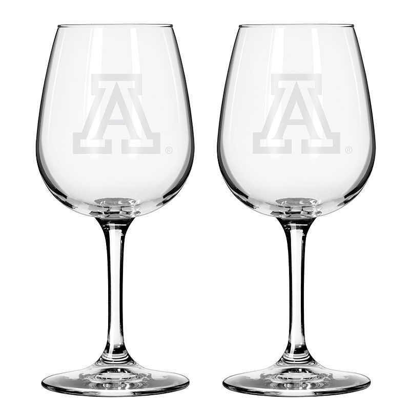 Boelter Arizona Wildcats 2-Pack Etched Wine Glasses, Ovrfl Oth
