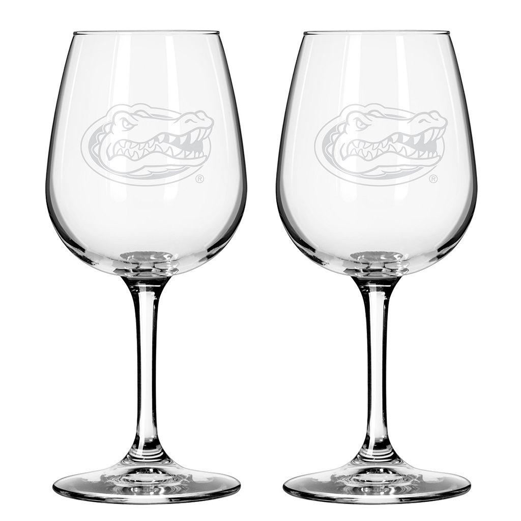Boelter Florida Gators 2-Pack Etched Wine Glasses