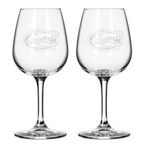 Boelter Florida Gators 2-Pack Etched Wine Glasses