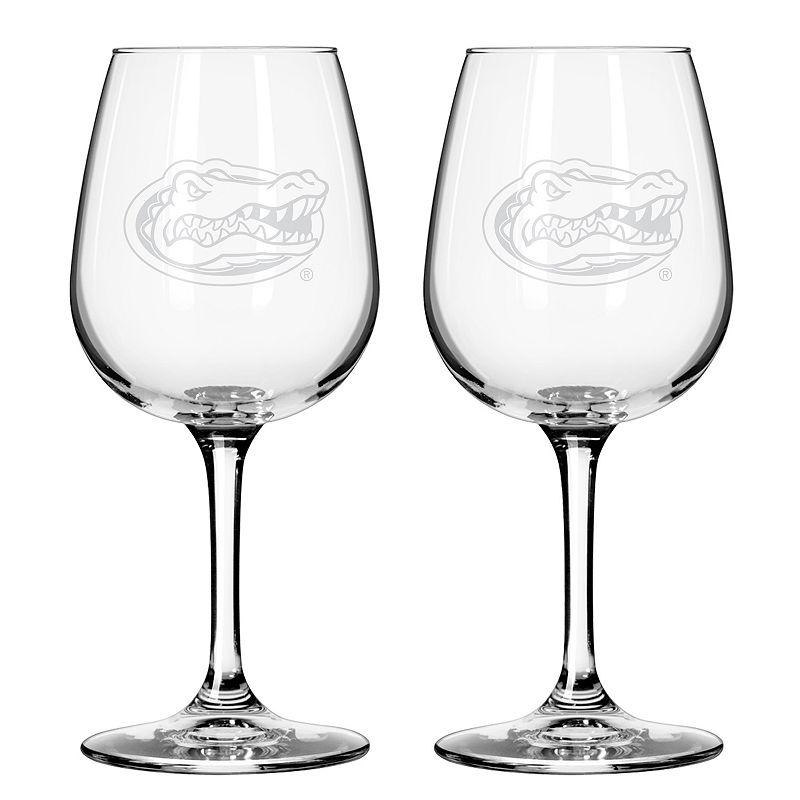 Boelter Florida Gators 2-Pack Etched Wine Glasses, Ovrfl Oth
