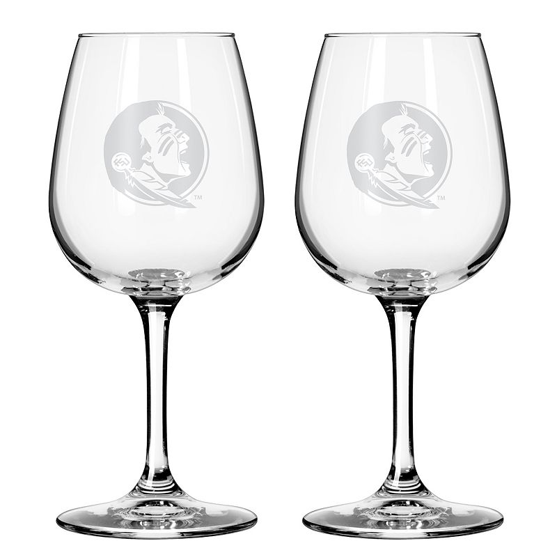 Boelter Florida State Seminoles 2-Pack Etched Wine Glasses, Ovrfl Oth