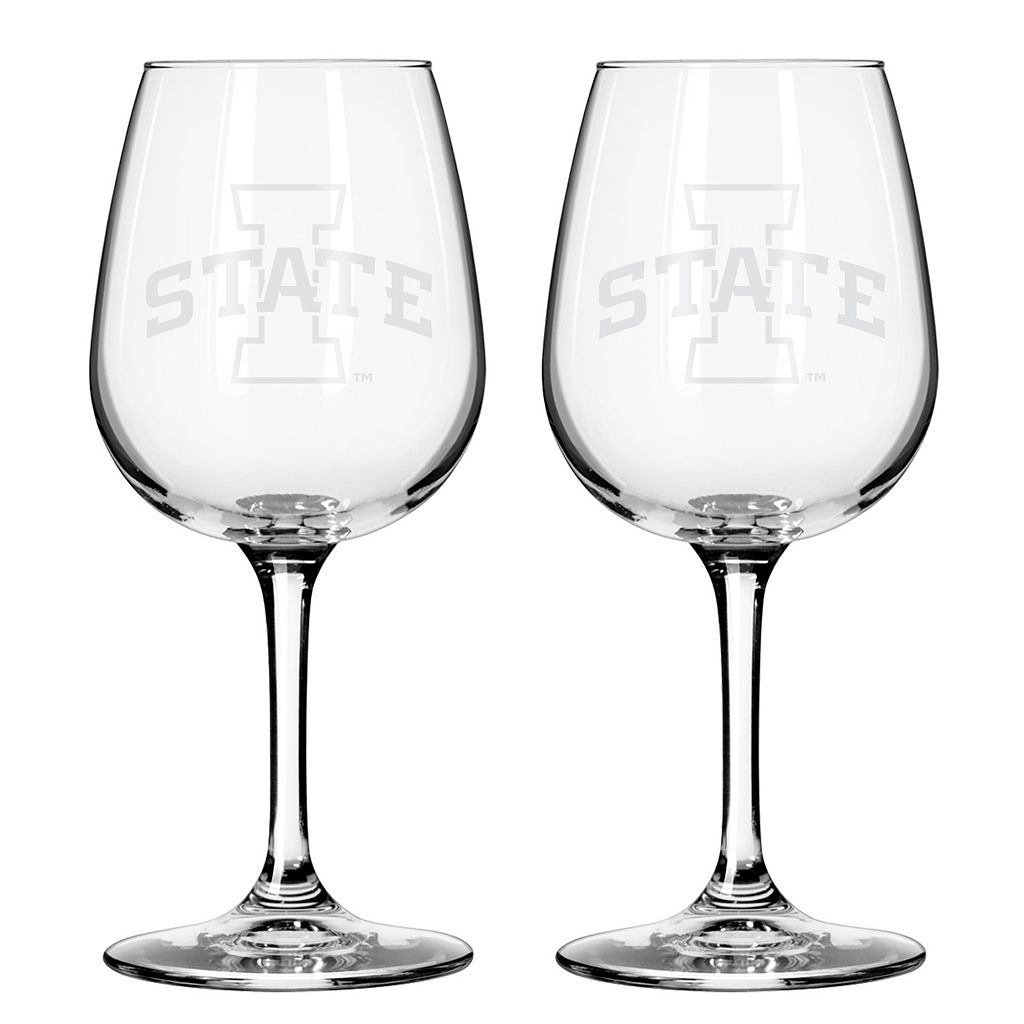 Boelter Iowa State Cyclones 2-Pack Etched Wine Glasses