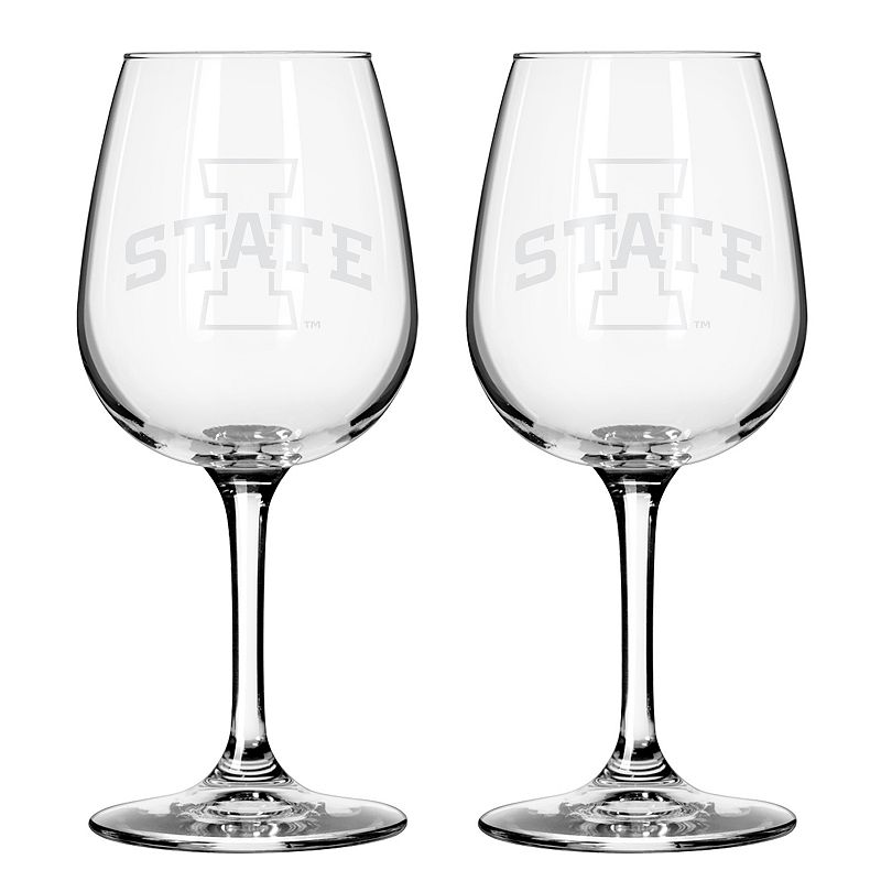 Boelter Iowa State Cyclones 2-Pack Etched Wine Glasses, Ovrfl Oth