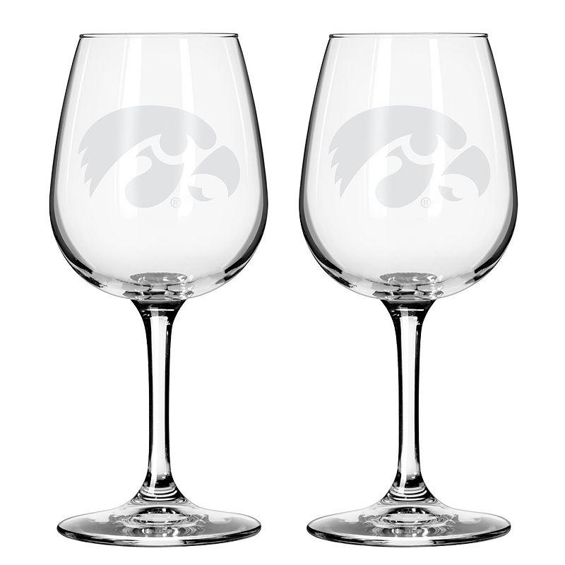 Boelter Iowa Hawkeyes 2-Pack Etched Wine Glasses, Ovrfl Oth