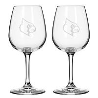 Boelter Louisville Cardinals 2-Pack Etched Wine Glasses