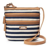 Rosetti Basil Herringbone Striped Crossbody Bag