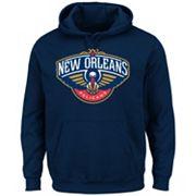 Men's Majestic New Orleans Pelicans Tek Patch Hoodie