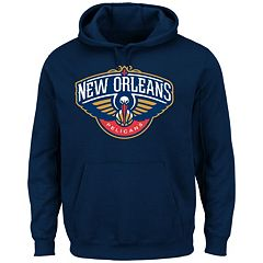 Men's Majestic New Orleans Pelicans Tek Patch Hoodie