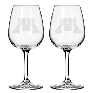 Boelter Minnesota Golden Gophers 2-Pack Etched Wine Glasses