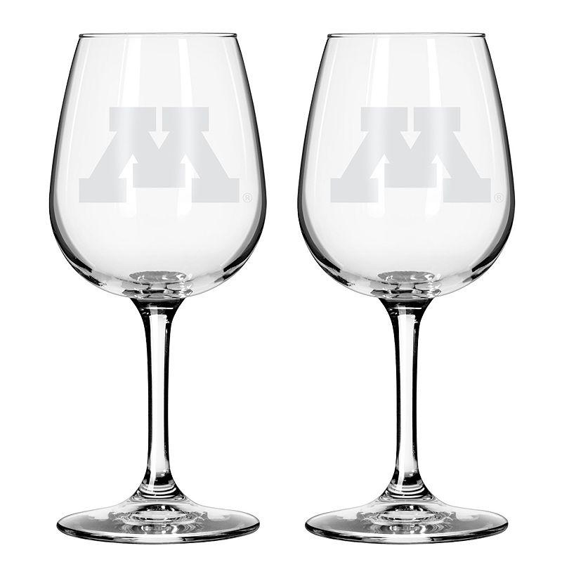 Boelter Minnesota Golden Gophers 2-Pack Etched Wine Glasses, Ovrfl Oth