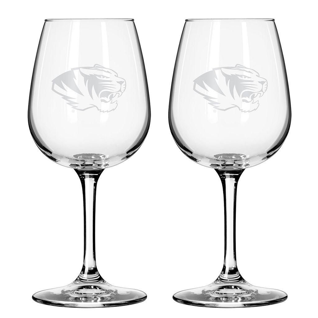 Boelter Missouri Tigers 2-Pack Etched Wine Glasses