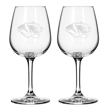 Boelter Missouri Tigers 2-Pack Etched Wine Glasses
