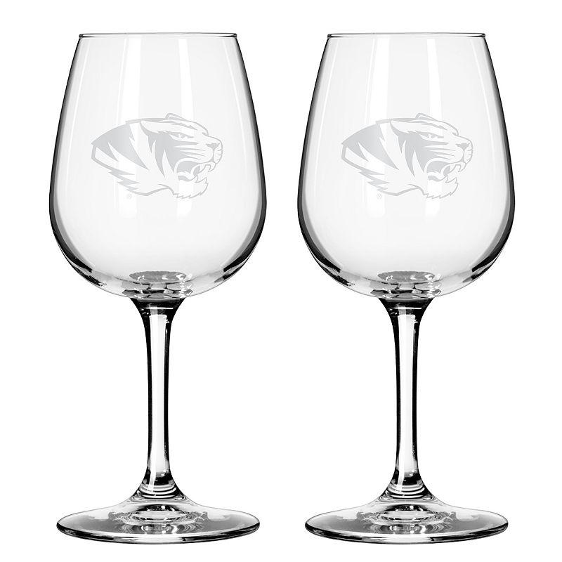 Boelter Missouri Tigers 2-Pack Etched Wine Glasses, Ovrfl Oth