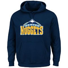 Men's Majestic Denver Nuggets Tek Patch Hoodie