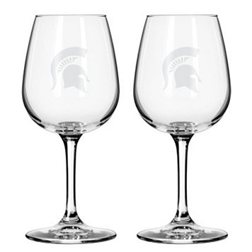 Boelter Michigan State Spartans 2-Pack Etched Wine Glasses