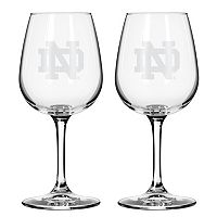 Boelter Notre Dame Fighting Irish 2-Pack Etched Wine Glasses