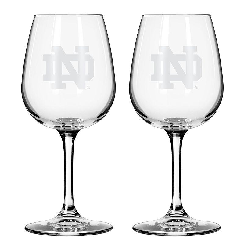 Boelter Notre Dame Fighting Irish 2-Pack Etched Wine Glasses, Ovrfl Oth