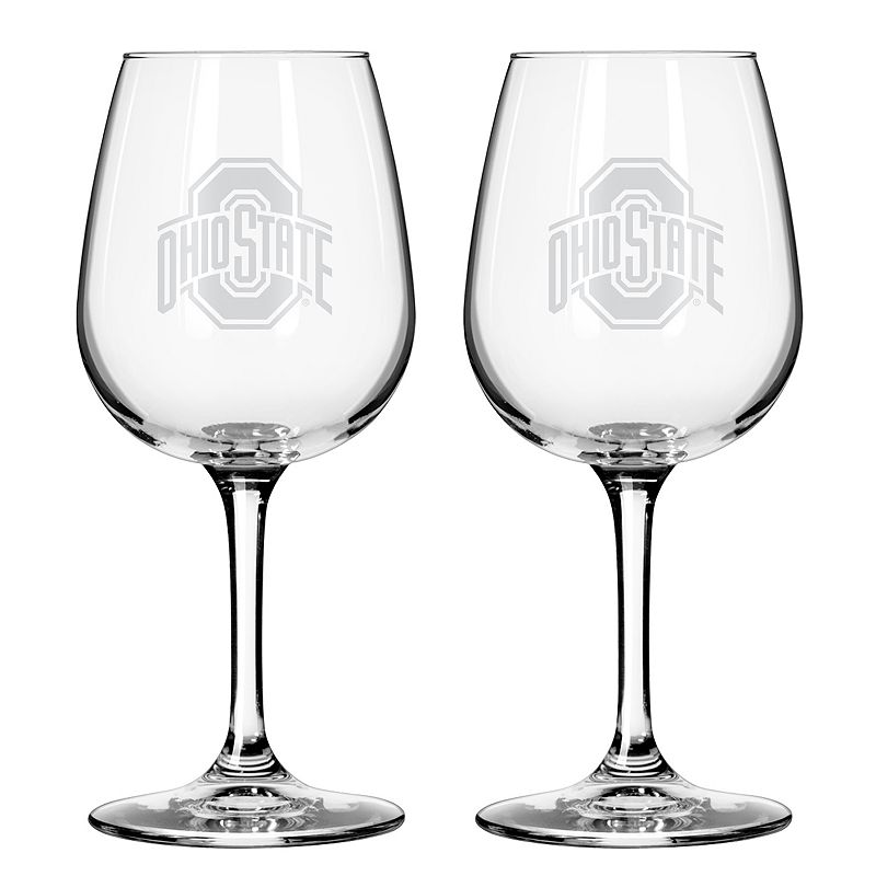 Boelter Ohio State Buckeyes 2-Pack Etched Wine Glasses, Other Clrs