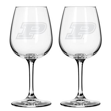 Boelter Purdue Boilermakers 2-Pack Etched Wine Glasses