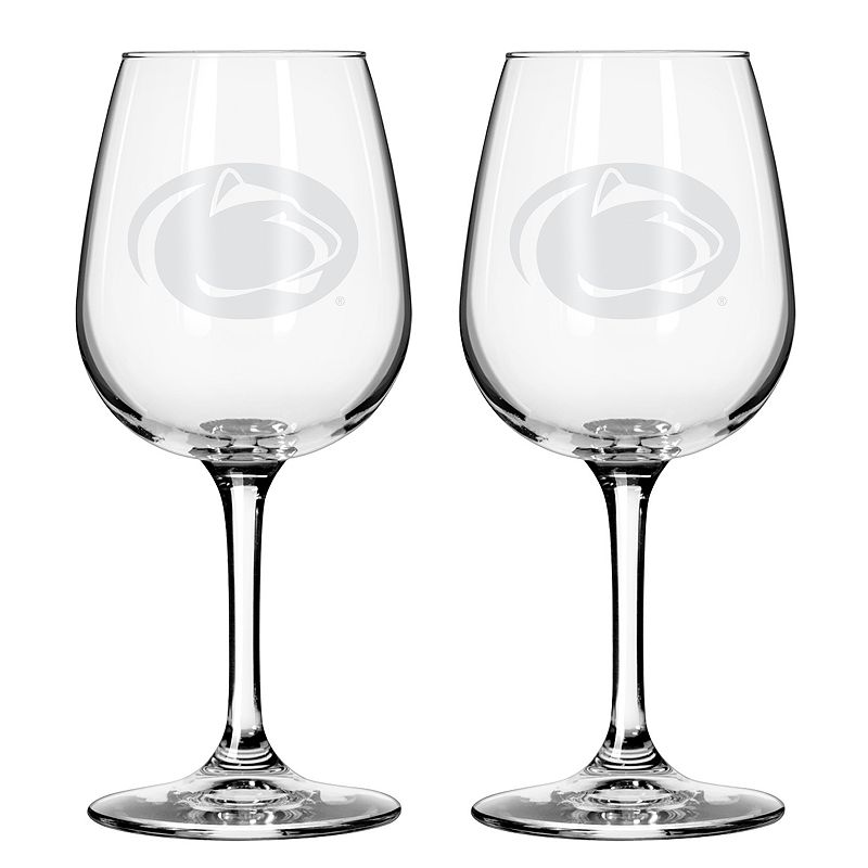 Boelter Penn State Nittany Lions 2-Pack Etched Wine Glasses, Ovrfl Oth