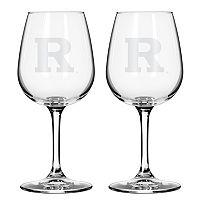 Boelter Rutgers Scarlet Knights 2-Pack Etched Wine Glasses