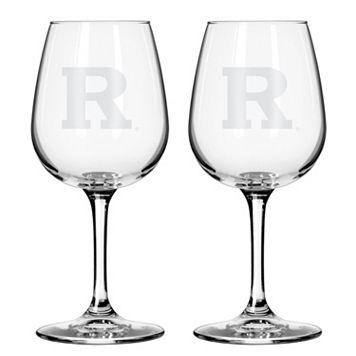 Boelter Rutgers Scarlet Knights 2-Pack Etched Wine Glasses