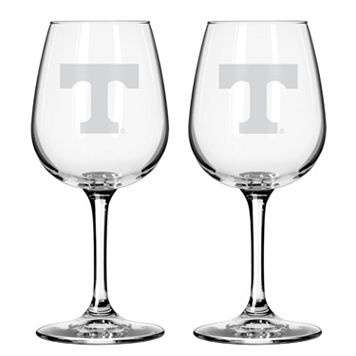 Boelter Tennessee Volunteers 2-Pack Etched Wine Glasses