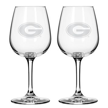 Boelter Georgia Bulldogs 2-Pack Etched Wine Glasses