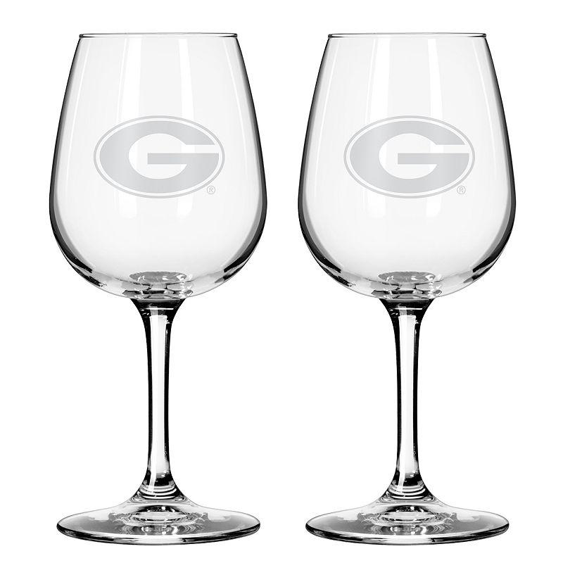 Boelter Georgia Bulldogs 2-Pack Etched Wine Glasses, Ovrfl Oth
