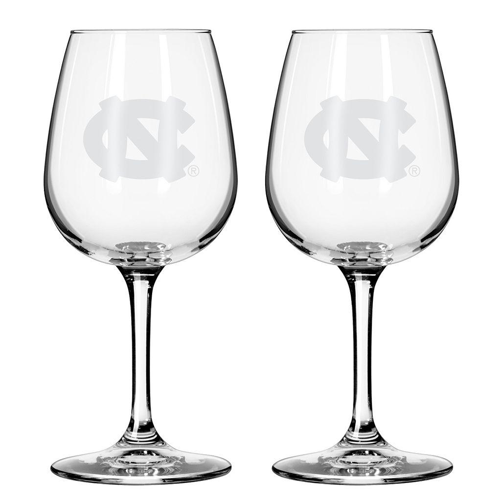 Boelter North Carolina Tar Heels 2-Pack Etched Wine Glasses