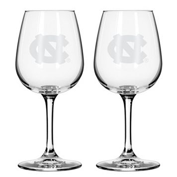 Boelter North Carolina Tar Heels 2-Pack Etched Wine Glasses