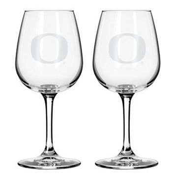 Boelter Oregon Ducks 2-Pack Etched Wine Glasses