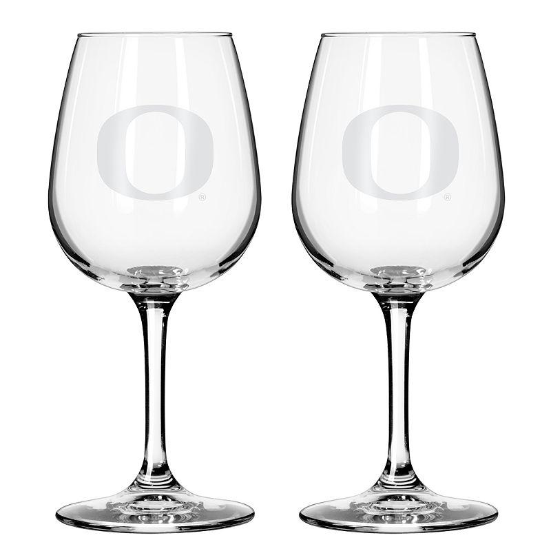 Boelter Oregon Ducks 2-Pack Etched Wine Glasses, Ovrfl Oth