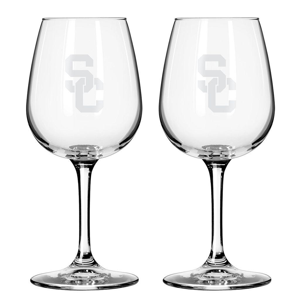 Boelter USC Trojans 2-Pack Etched Wine Glasses