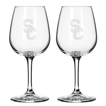 Boelter USC Trojans 2-Pack Etched Wine Glasses