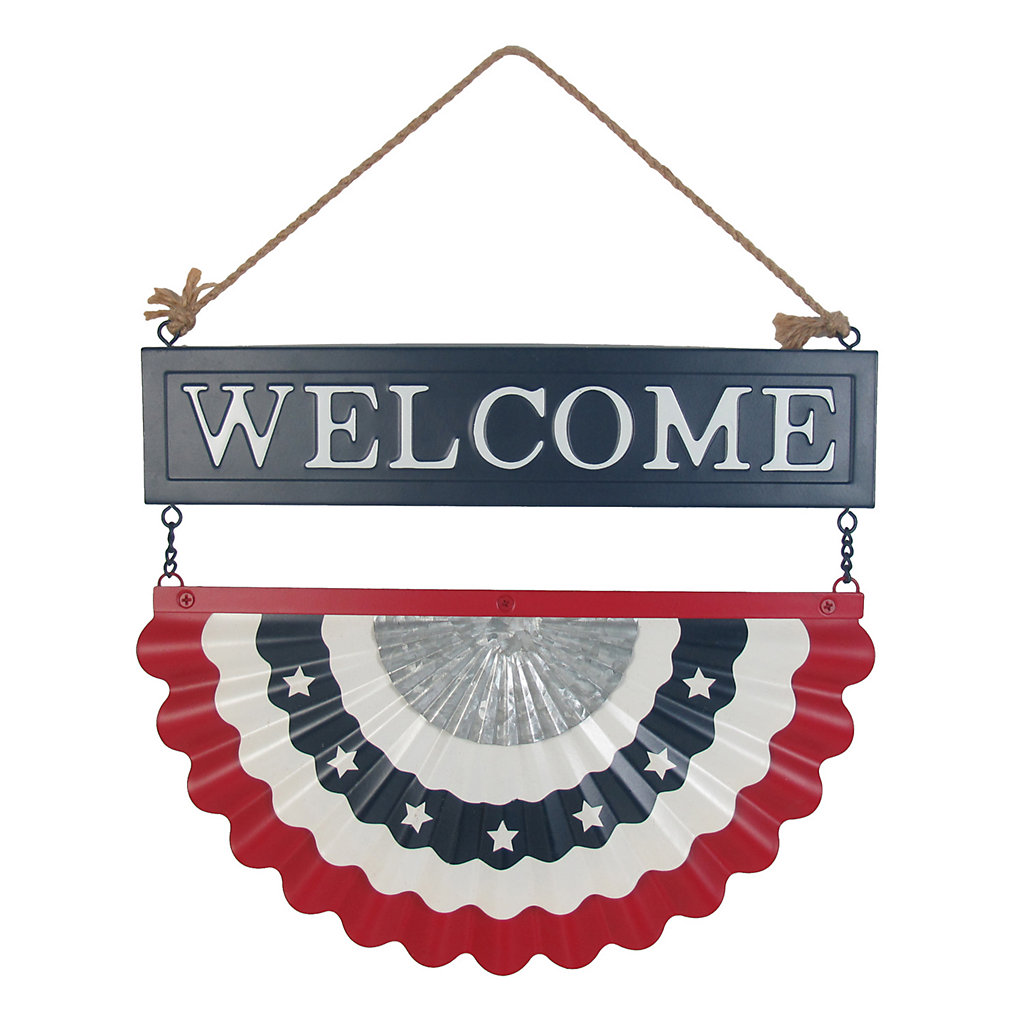 Celebrate Americana Together Iron Metal Bunting Welcome Wall Decor