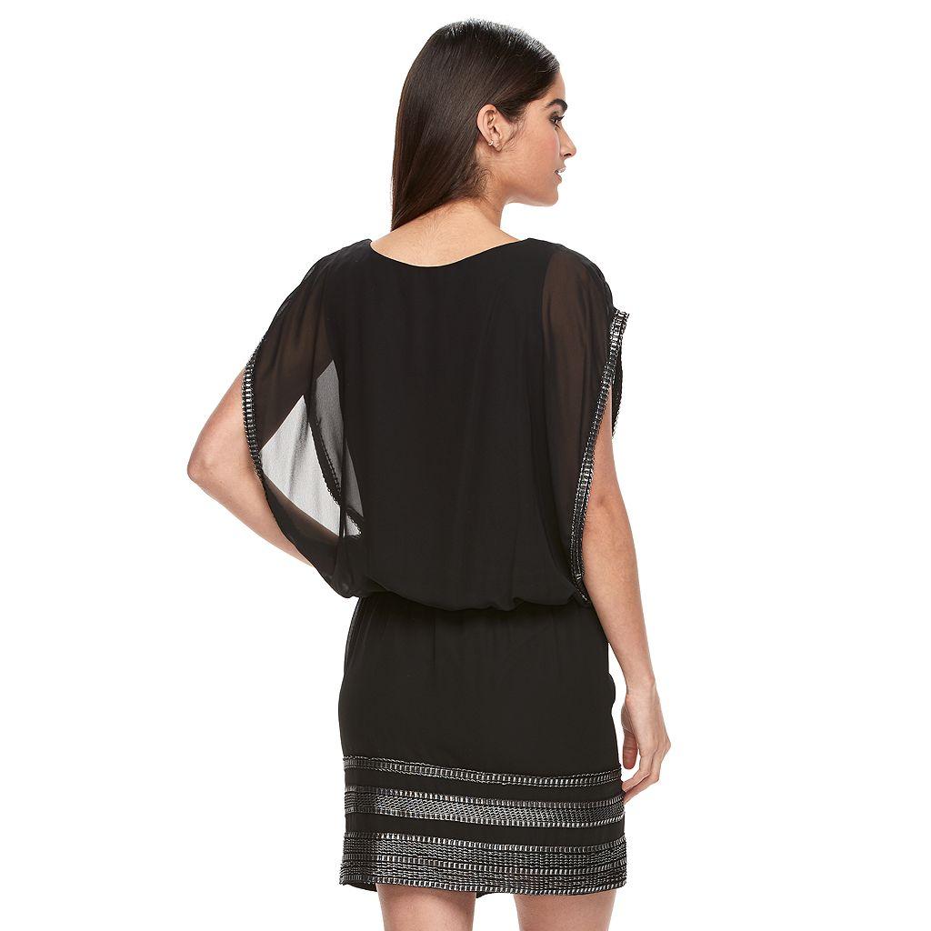 Women's Expo Foiled Blouson Dress