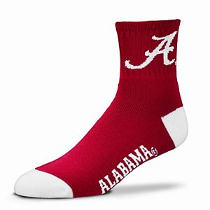 Adult For Bare Feet Alabama Crimson Tide Team Color Quarter-Crew Socks