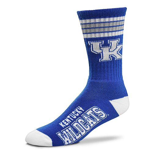 Men's For Bare Feet Kentucky Wildcats Deuce Striped Crew Socks