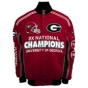 Men's Franchise Club Georgia Bulldogs Commemorative Varsity Jacket